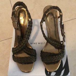 Nine West Bronze Heels